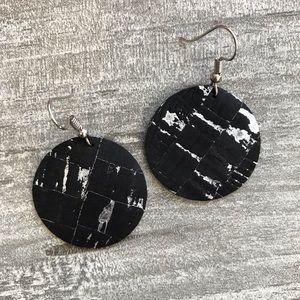 Jewelry - 🔵Handmade Cork Style Circle Earrings